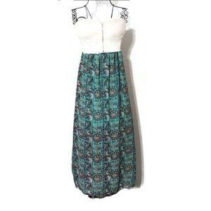 Rue 21 Strapless Floral Maxi Dress